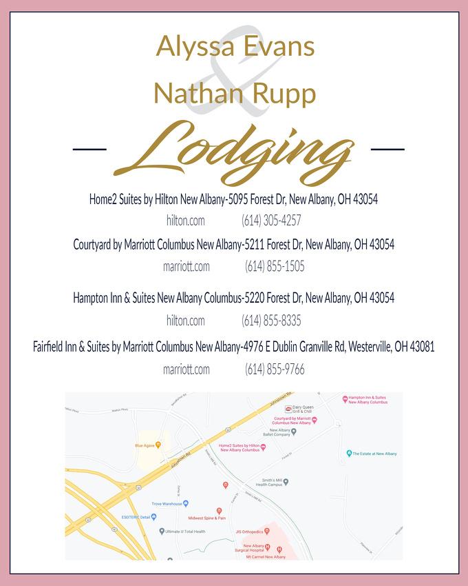 Evans&Rupp Wedding Lodging  Page-Zenfolio