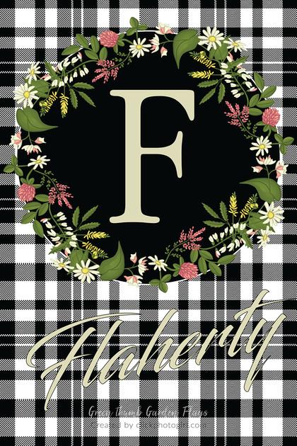 Peggy (Check Plaid Wreath -Garden Flag )-Ver#2