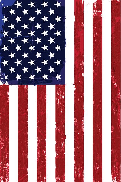 US Garden Flag Banner-12x18
