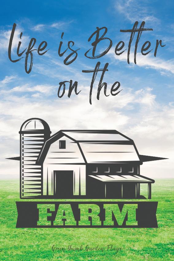 The farm (Garden Flag ) Blue sky BG