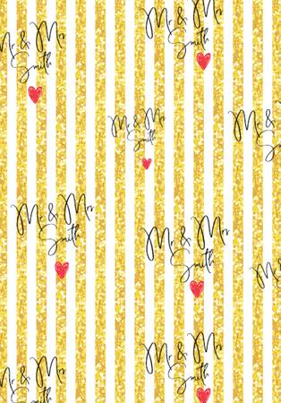 Mr & Mrs Smith Wedding Print pattern copy