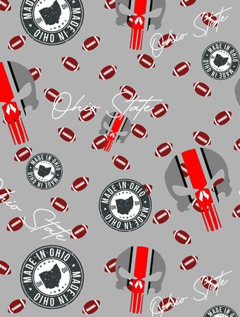 Ohio State (mini footballs Print pattern copy